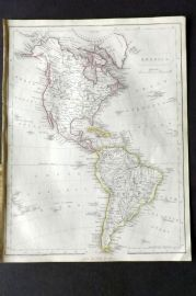 Barclay C1850 Antique Map. America